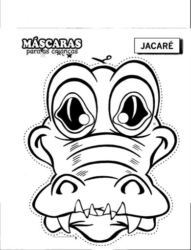 Cocodrile Mask   Free Coloring Pages