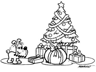 Pinto Dibujos: Arbol de Navidad para colorear