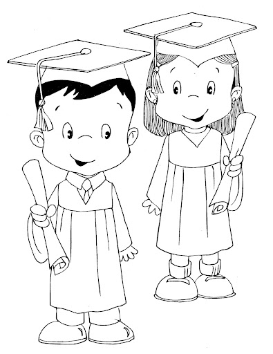 printable graduation coloring pages for kids