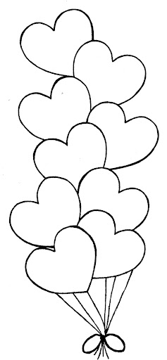 heart balloon coloring pages - photo #17