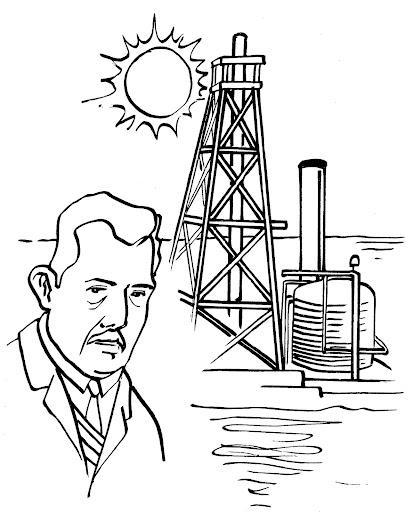 Torre petrolera para colorear