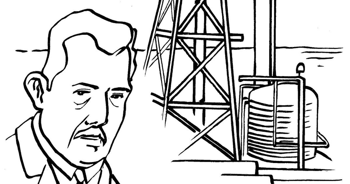 pinto dibujos  torre petrolera para colorear