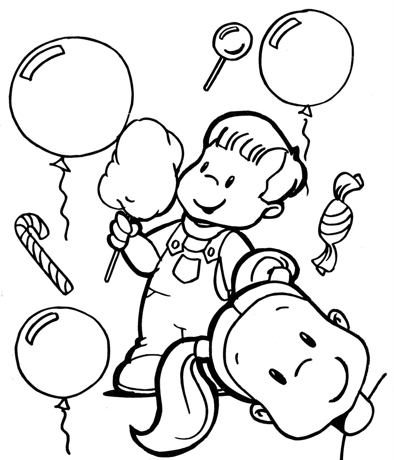Pinto Dibujos: niños felices para colorear