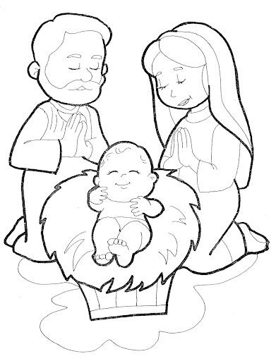sagrada familia para colorear