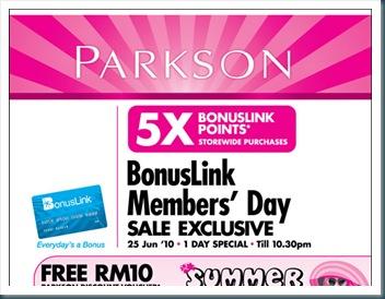 Parkson Bonus Link Day