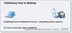 publishing post to weblog via windows live writer