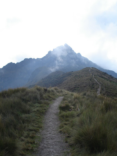 The hike from 4,100m to 4,600m at the top of Quito, Ecuador