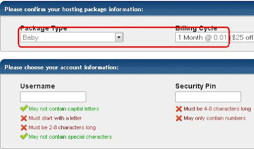 mengisi data hostgator