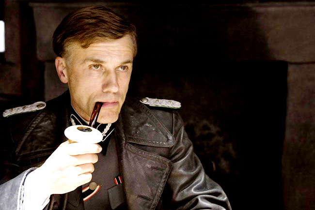 Christoph Waltz stars as Col. Hans Landa in Inglourious Basterds, photo from The Weinstein Company