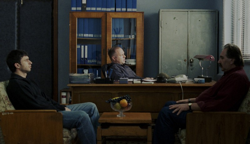 Dragos Bucur, Vlad Ivanov and Ion Stoica in POLICE, ADJECTIVE - Marius Panduru/IFC Films