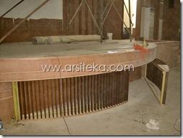bawah panggung1 proses - Arsiteka (Ruang Sidang Paripurna DPRD Kabupaten Malang)