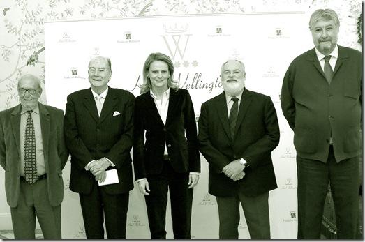 Ponentes del acto: Miguel Arias Cañete, Pablo Castellano, José María Fidalgo, José Antonio Segurado e Isabel San Sebastián