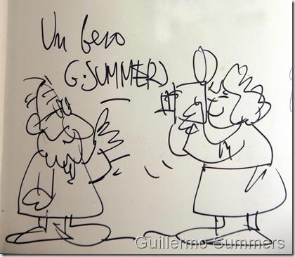 Dibujo de Guillermo Summers a nuestra directora Dolores de Lara