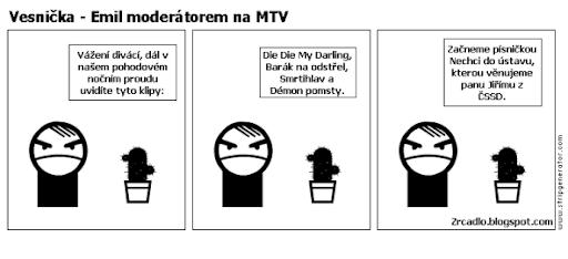 Komiks Vesnička - Zlý skřítek Emil moderátorem na MTV