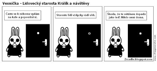 Lidovecký starosta Králík a návštěvy.
