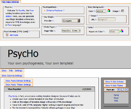 Vytvořit blogger šablonu on-line