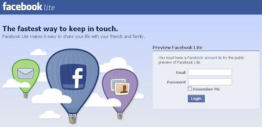 Facebook Lebih Ringan dengan Facebook Lite