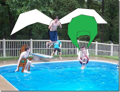 Jumping into the pool . . . the crazy way (2)