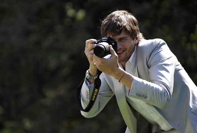 Nikon-Ashton Kutcher D60 TV commercial at The Huntington Botanical Gardens 