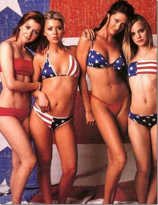 Fotos sexy de garotas patriotas americanas