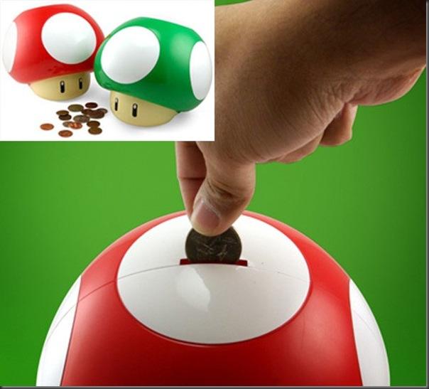 Cofrinho de cogumelos Super Mario