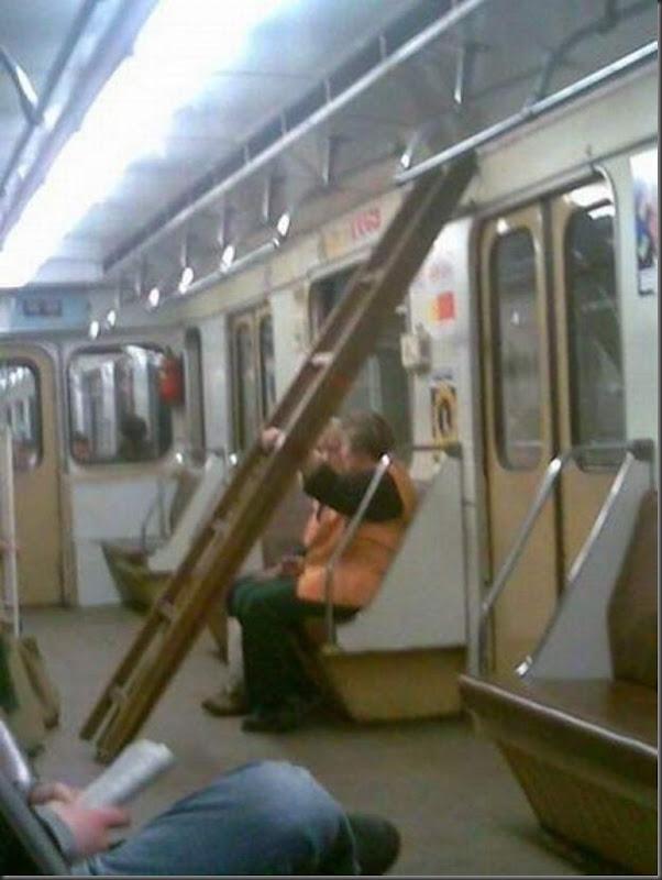 Dando uma volta de metro na Russia