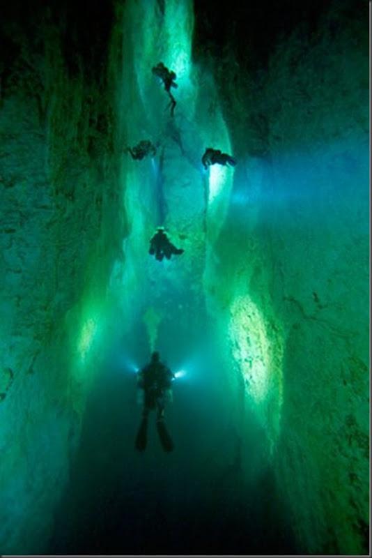 Lindas imagens de cavernas nas Bahamas (3)