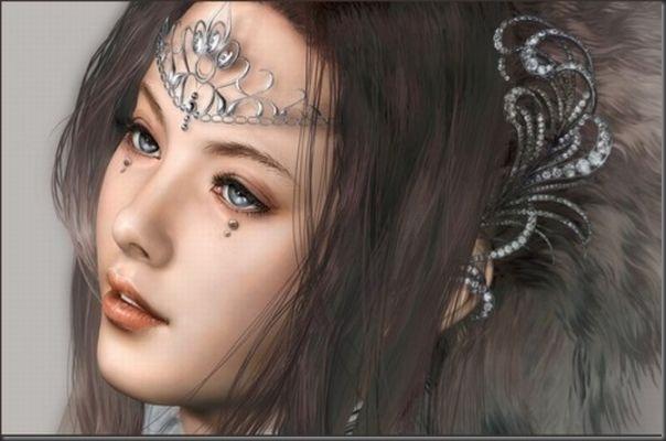 Desenhos realistas de belas garotas (23)