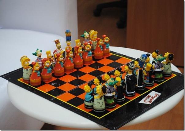Tabuleiro de xadrez dos Simpsons