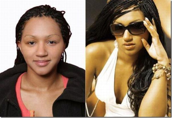 Garotas antes e depios da maquiagem (1)