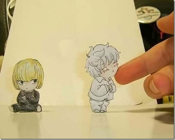 Personagens animados de cortes em papel (2)