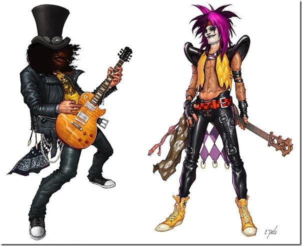 Ilustrações Guitar Hero (3)