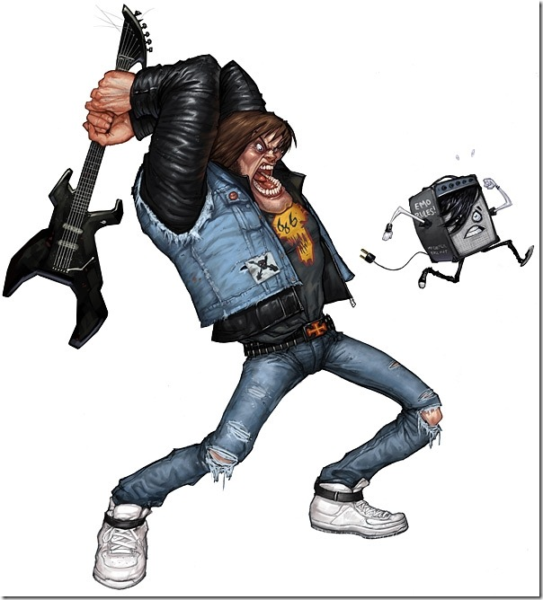 Ilustrações Guitar Hero