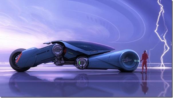 Ilustrações de transportes futuristas