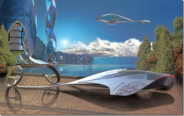 Ilustrações de transportes futuristas (1)