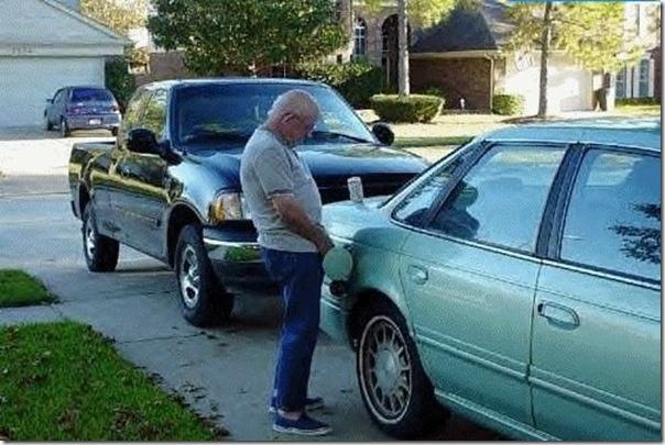 A gasolina acabou
