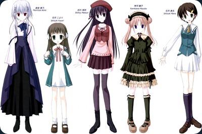 Si hasta parecen hermanas!! Claro, fueron diseñadas nada más ni nada menos por Naru Nanao