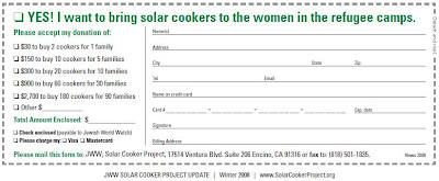 Solar Cooker Project Donation