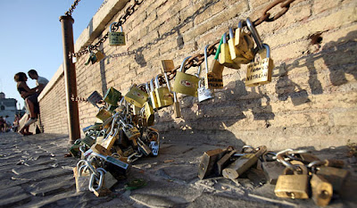 Padlocks of Love on City-Approved Posts