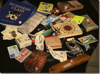 teaching bag contents