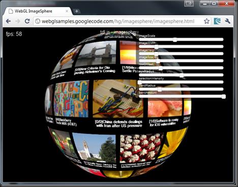 WebGL ImageSphere