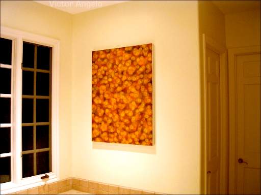 Victor Angelo dusk installation painting at residential luxury art collection
