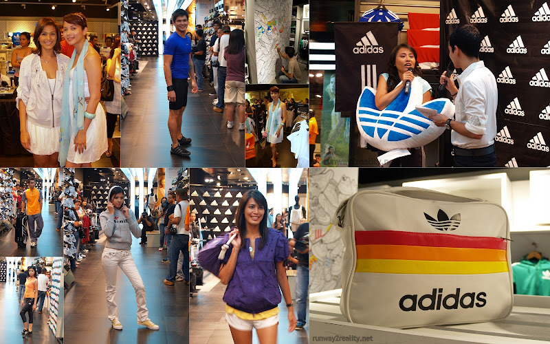 adidas angel aquino iza calsado originals shoes sports flagship store greenbelt biggest philippines opening fashion chris tiu store runway2reality