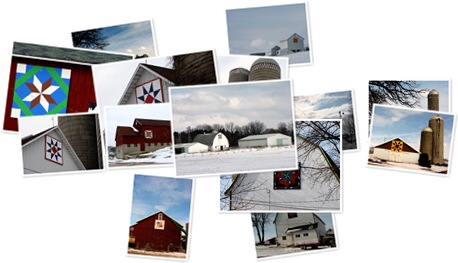 View Green County Barns in Winter