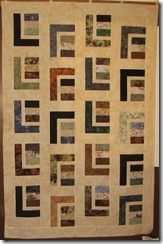 """Comfot Quilt based off the quilt pattern """"Urban Cabin"""" - Still needs and outer border."""