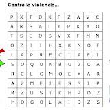 Sopa de Letras  Contra la Violencia