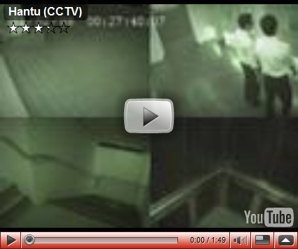 Look the video and look the ghost face, scary demon grandma.