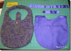 Felted Purse with Lining Pieces