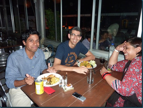 Free dinner with Ivan and Sharayu