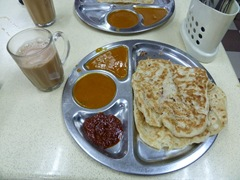 Roti canai and Te Ice